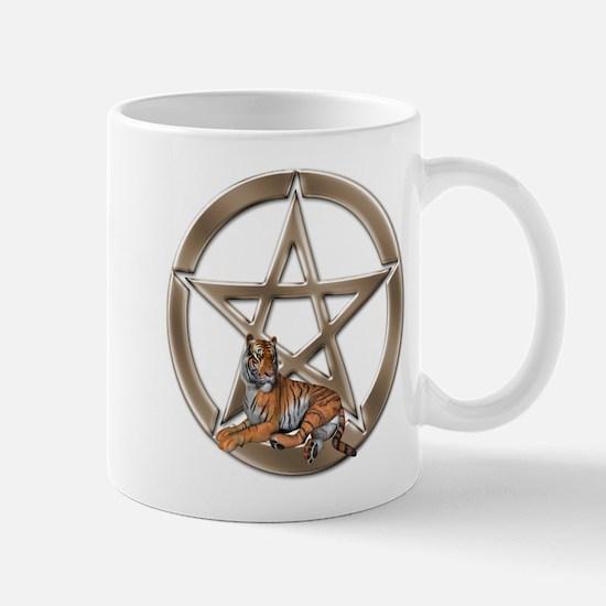 Pentacle Tiger Symbol Mugs