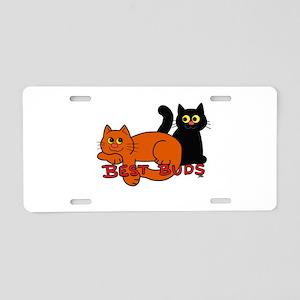 Best Buds Cats Aluminum License Plate