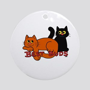 Best Buds Cats Ornament (Round)