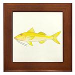 Gold Saddle Goatfish Framed Tile