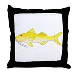 Gold Saddle Goatfish Throw Pillow