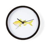 Gold Saddle Goatfish Wall Clock