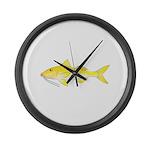 Gold Saddle Goatfish Large Wall Clock