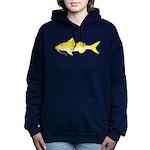 Gold Saddle Goatfish Women's Hooded Sweatshirt