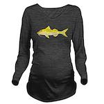Gold Saddle Goatfish Long Sleeve Maternity T-Shirt