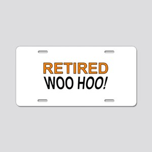 Retired Woo Hoo Aluminum License Plate