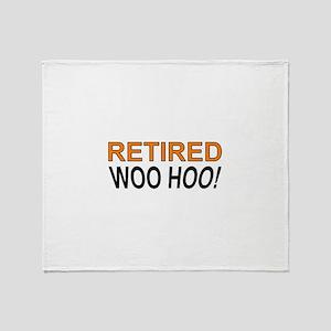 Retired Woo Hoo Throw Blanket
