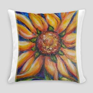 sunflower, cheerful art, Everyday Pillow