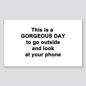 Gorgeous Day Sticker (Rectangle)