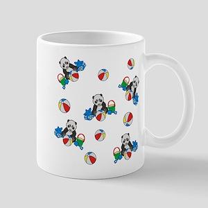 Beach Pandas with Beach Balls Mugs