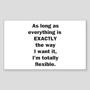 Totally Flexible Sticker (Rectangle)