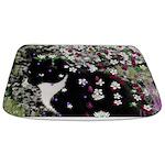 Freckles Tux Cat Flowers I Bathmat