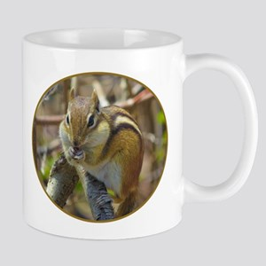 Chipmunk Eating Mugs