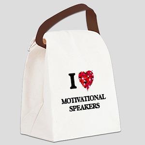 I love Motivational Speakers Canvas Lunch Bag
