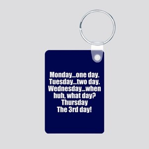 Funny Days Friends Aluminum Photo Keychain