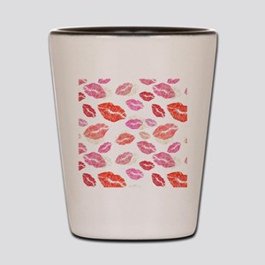 Pink & Red Lips with Gold Shot Glass