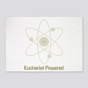 eucharistpowered_dark 5'x7'Area Rug