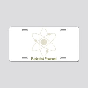 eucharistpowered_dark Aluminum License Plate