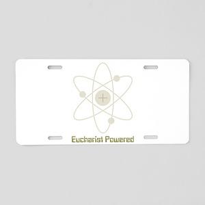 eucharistpowered_dark Aluminum License Plate