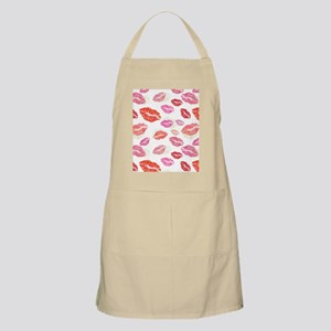 Pink & Red Lips with Gold Light Apron