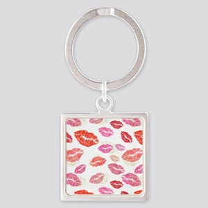 Pink & Red Lips with Gold Keychains