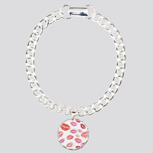Pink & Red Lips with Charm Bracelet, One Charm