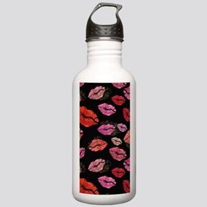 Pink & Red Lips on Stainless Water Bottle 1.0L