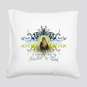 HolyMary Square Canvas Pillow