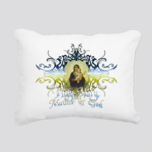 HolyMary Rectangular Canvas Pillow