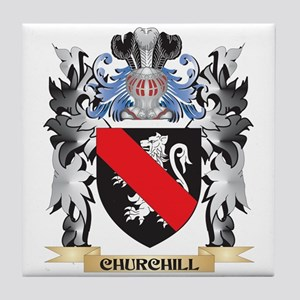 Churchill Coat of Arms - Family Crest Tile Coaster