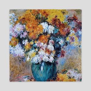 Renoir Chrysanthemums Queen Duvet