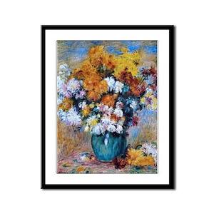 Renoir Chrysanthemums Framed Panel Print