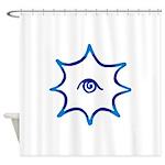 TBridge #2 (blue, nw) Shower Curtain