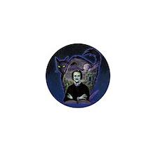 Edgar Allan Poe Black Cat Mini Button