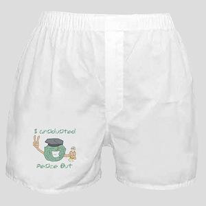 I Graduated, Peace Out Boxer Shorts