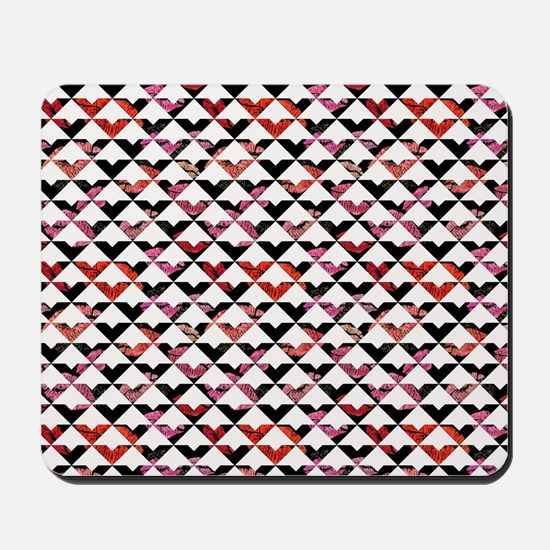 Modern Chic Bold Triangles Mousepad