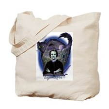 Edgar Allan Poe Black Cat Tote Bag
