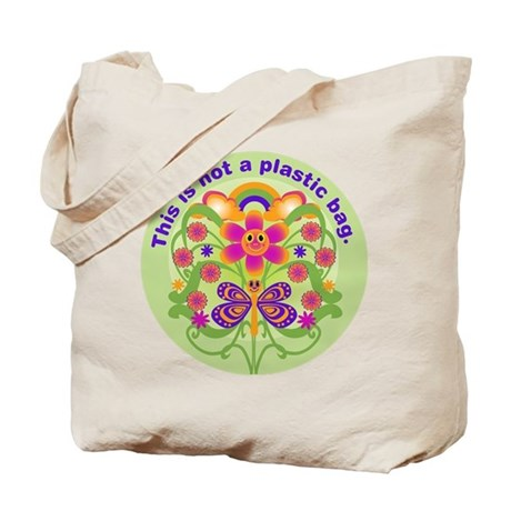 Bright 70s Not Plastic Bag Tote Bag