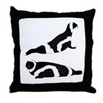 Ribbon Seal Throw Pillow