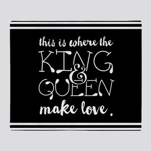 Fun King and Queen Mr. & Mrs. Throw Blanket