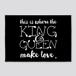 Fun King and Queen Mr. & Mrs. 5'x7'Area Rug
