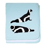 Ribbon Seal baby blanket