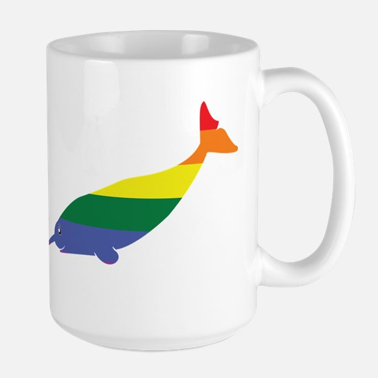 Gay Narwhal Rainbow Mugs