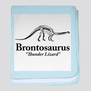 Brontosaurus Thunder Lizard baby blanket