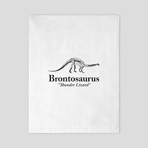 Brontosaurus Thunder Lizard Twin Duvet Cover