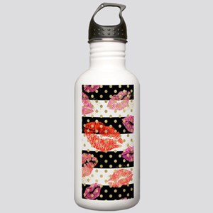 Horizontal Stripes &am Stainless Water Bottle 1.0L