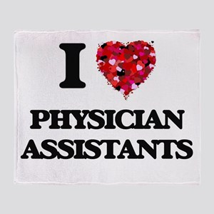 I love Physician Assistants Throw Blanket