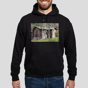 Log cabin, Grand Canyon North Rim, A Hoodie (dark)