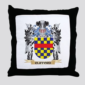Clifford Coat of Arms - Family Crest Throw Pillow
