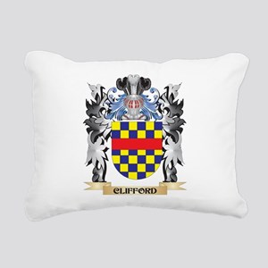 Clifford Coat of Arms - Rectangular Canvas Pillow